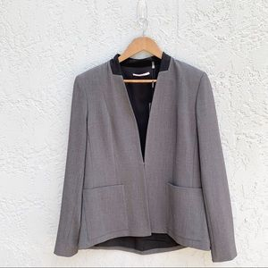T Tahari Women's Charcoal Grey Suit Blazer, Size 8